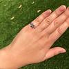 1.19ct Art Deco Carre Cut Diamond Solitaire 34
