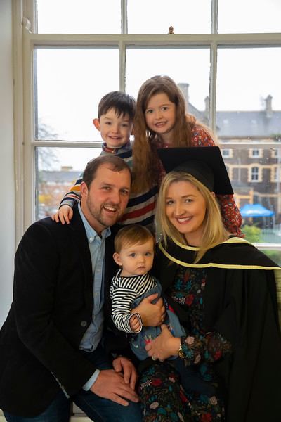 01/11/2019. Waterford Institute of Technology (WIT) Conferring Ceremonies. Pictured are Laura Keane Inistioge with Vinny, April, Daniel and Lucy. Picture: Patrick Browne