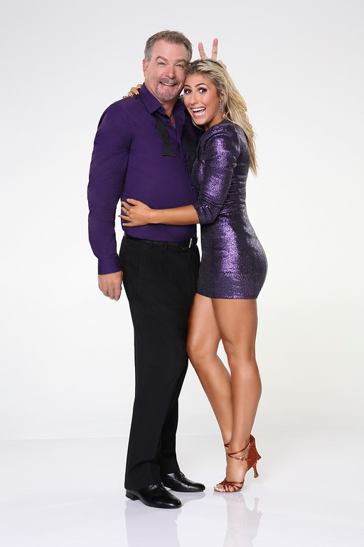 """. DANCING WITH THE STARS - BILL ENGVALL & EMMA SLATER - Bill Engvall joins first time professional partner Emma Slater. \""""Dancing with the Stars\"""" returns for Season 17 on MONDAY, SEPTEMBER 16 (8:00-10:01 p.m., ET), on the ABC Television Network. (ABC/Craig Sjodin)"""
