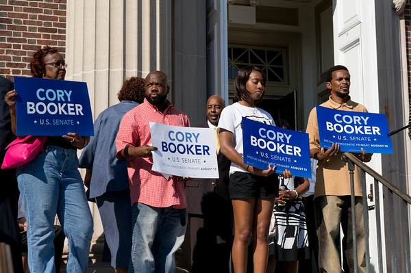 Cory Booker U.S. Senate Special Primary Election Rally
