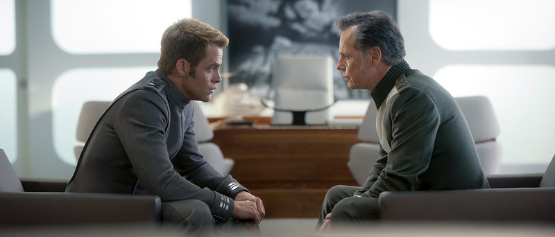 . (Left to right)  Chris Pine is Kirk and Bruce Greenwood is Pike in STAR TREK INTO DARKNESS, from Paramount Pictures and Skydance Productions.   (Photo by Jaimie Trueblood)