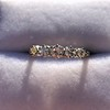 0.48ctw Vintage Transitional Cut Diamond 5-stone Band 16