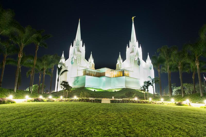 Jesus Christ Church of Latter Day Saints at Night