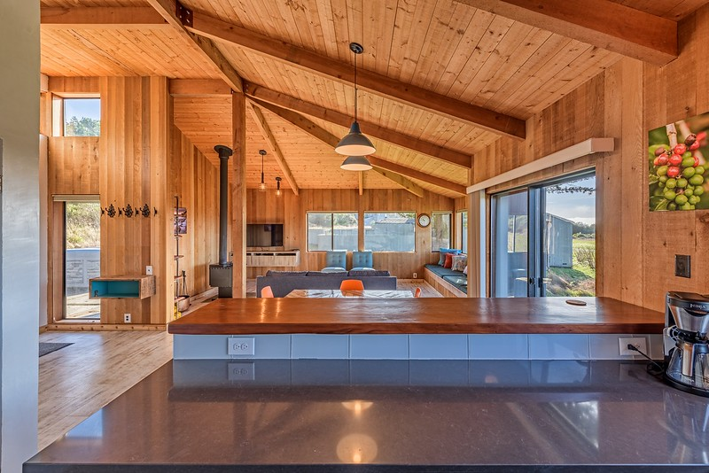 Kitchen with Living Room View
