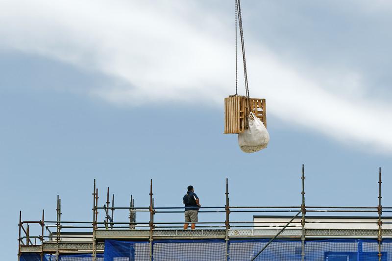 Working construction crane operation. Update 179 . Gosford. January 2019.