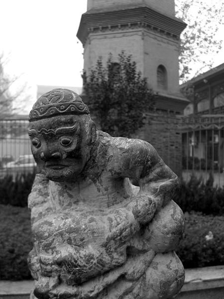 Distressed Statue - Xi'an, China