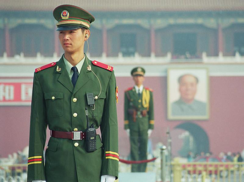 cropped Gaurd 2 Tian'anmen Square Beijing, October 2004.jpg