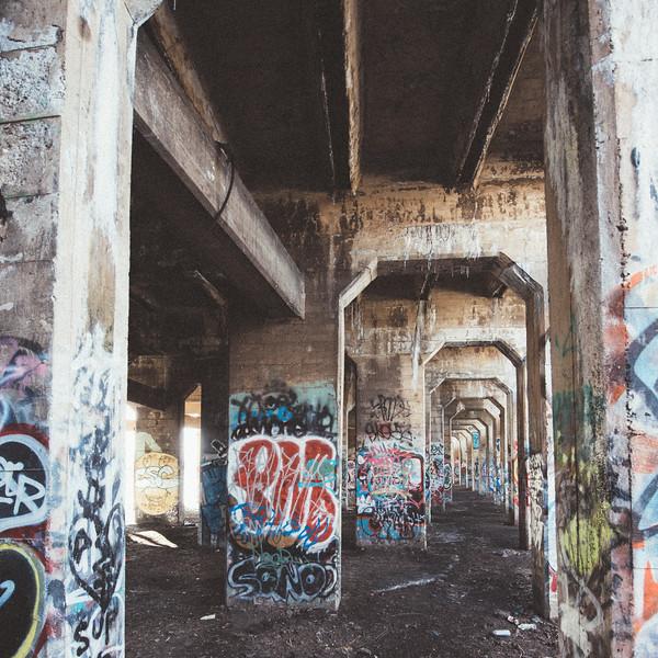 Inside Philidelphia Graffiti Pier