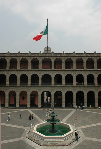 The courtyard in the National Palace