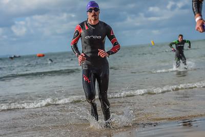 Sandman Triathlon - Swim Exit Purple Hats