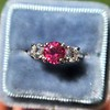 1.71ctw Ruby and Diamond Trilogy Ring 7
