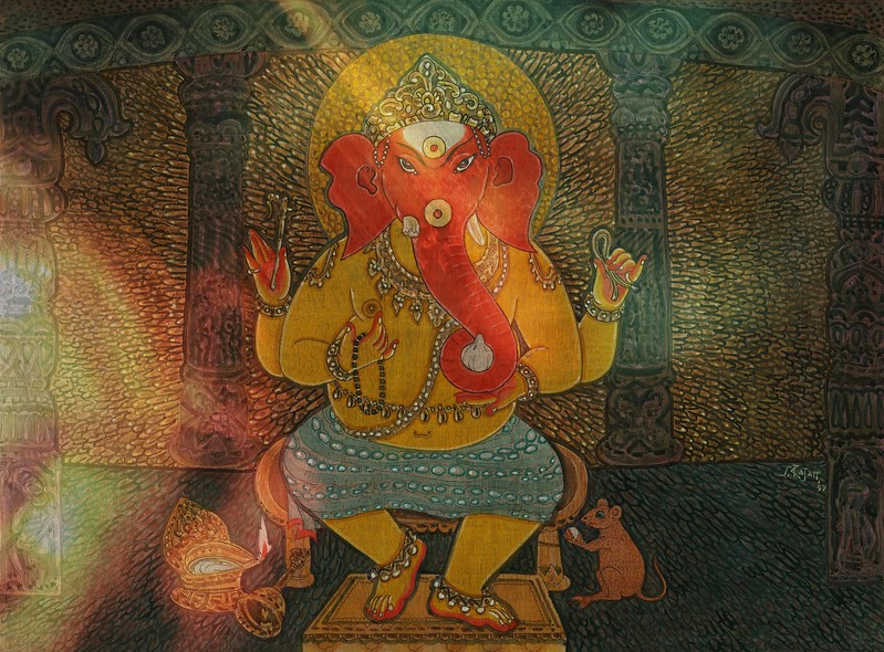 Gently Dancing Ganesha with Red Head.jpg