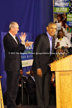 President Obama campaigns for Phil Murphy & Sheila Oliver in Newark, New Jersey