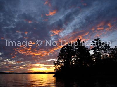 2011 0706 LAKE VERMILION (MN) Sunset, 07/06