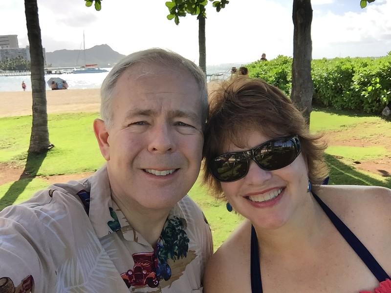 On the beach walk going over to Waikiki Beach 11/12/2018