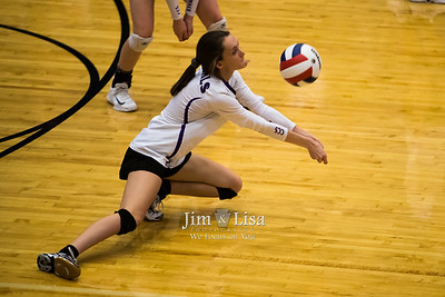 Varsity Volleyball at State Semi-final, October 7
