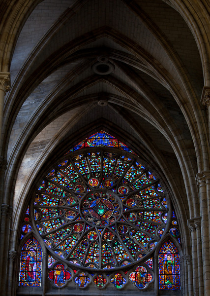 Chalons-en-Champagne Cathedral North Rose Window and Vaults