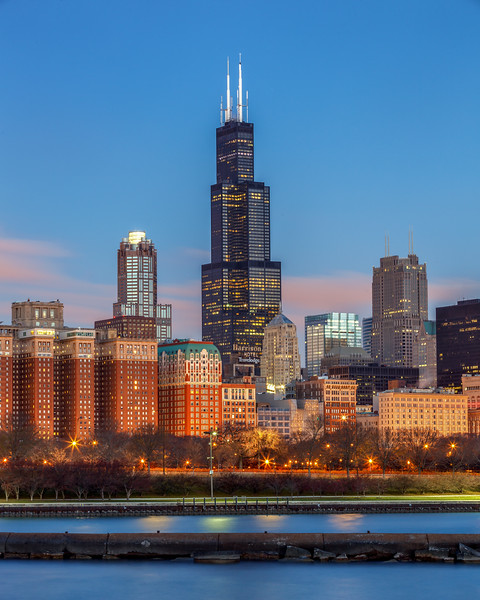 Sears Willis Tower at Sunrise
