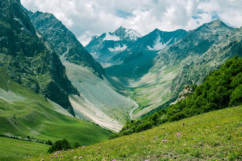 Hiking in Kyrgyz-Ata National Park  in Osh, Kyrgyzstan.