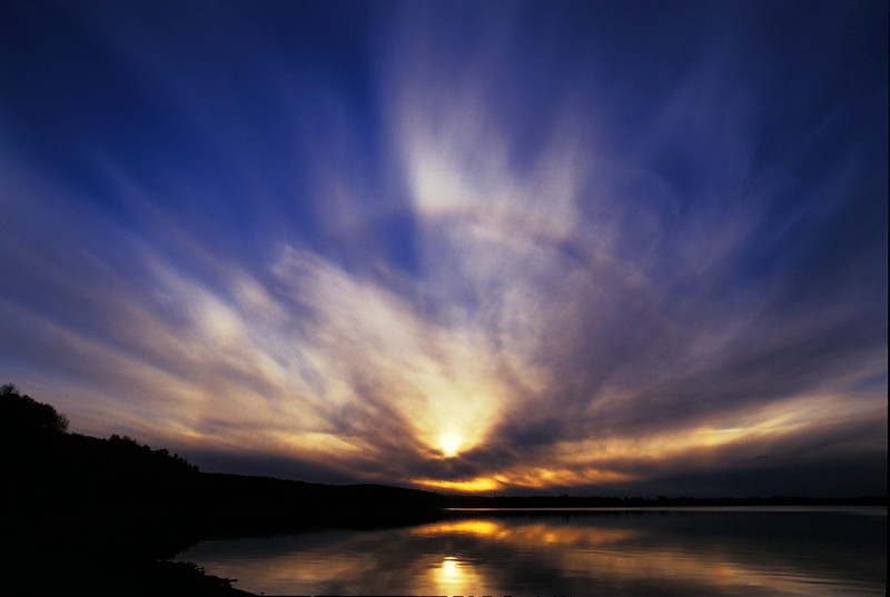Cold Lake Sun Halo