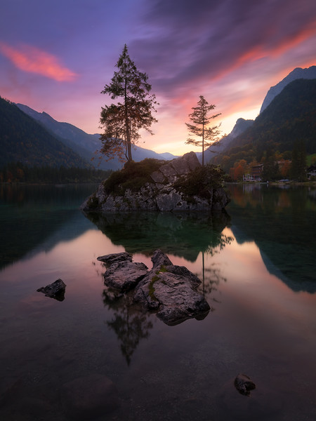 Hintersee sunset evening beautiful germany lake berchtesgarden.jpg