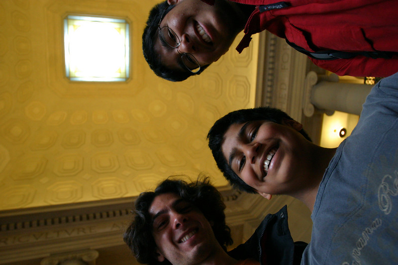 Jeff, Zeryab and Daanyal in Lobby 7.