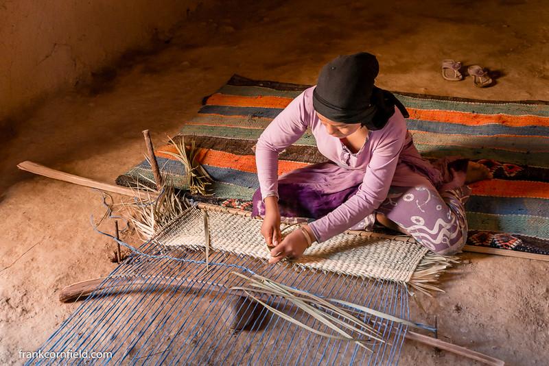 Carpet Weaving; Tamnougalt, Morocco