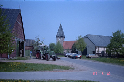 Strolling through a typical country farm village in West Germany, just a stones throw from the border with the DDR.