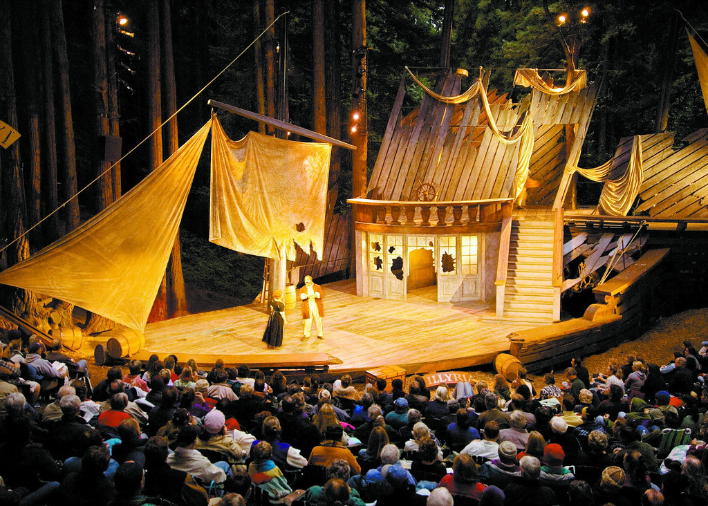 . Shot of SSC\'s production of Twelfth Night, from rear of the glen. (Sentinel file)