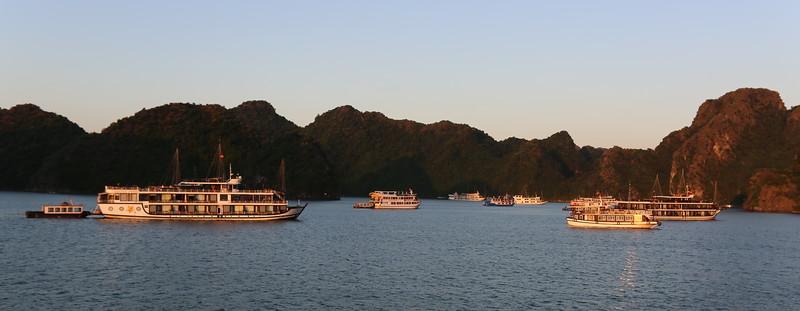 Peaceful morning in Haiphong Bay