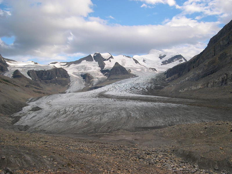 Rest stop #56: The toe of the Robson Glacier.