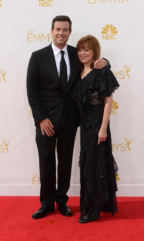 . Carson Daly and Pattie Daly Caruso on the red carpet at the 66th Primetime Emmy Awards show at the Nokia Theatre in Los Angeles, California on Monday August 25, 2014. (Photo by John McCoy / Los Angeles Daily News)