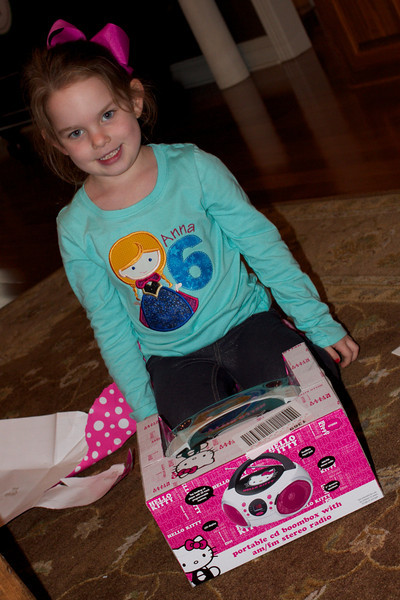 Granny bought Anna her first CD player