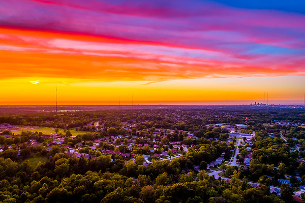 Drone Summer Sunset - Broadview Heights