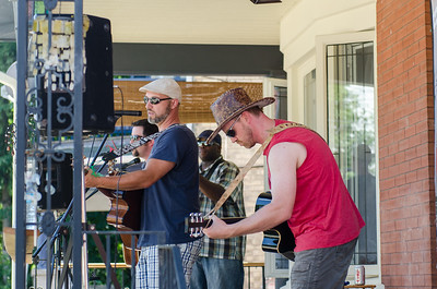 KITCHENER, Ont. (23/07/2016) - Playing at 190 Benton Street, The James Downham Band entertains music lovers during the Schneider Creek Porch Party Saturday evening in Kitchener, Ont.  Photos by Alicia Wynter/The Record