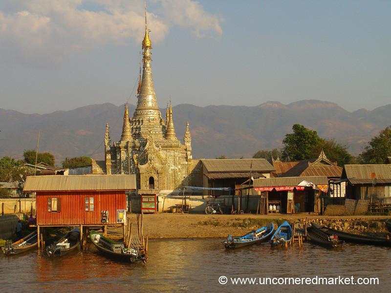 Waterside Pagoda - Nyaung Shwe, Burma
