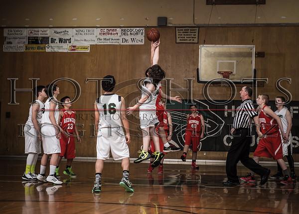 8th Grade Redwood White @ Crescent Elk C's 03-01-16