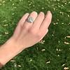 2.85ct Antique Cushion Cut Diamond Halo Ring 36