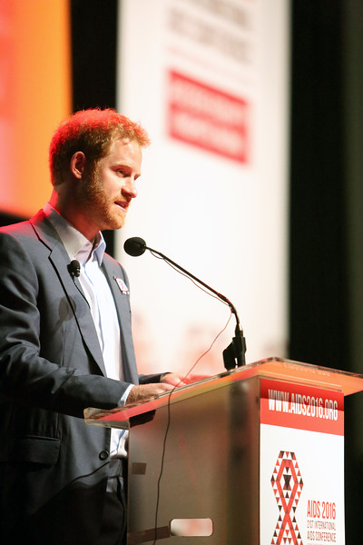 21st International AIDS Conference (AIDS 2016), Durban, South Africa. Thursday 21 July : Venue -Durban ICC Session Room 1 Ending AIDS with the Voices of Youth Prince Harry, Sentebale, United Kingdom   Photo©International AIDS Society/Abhi Indrarajan