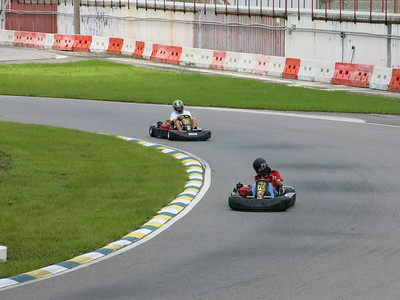Karting with  Jared