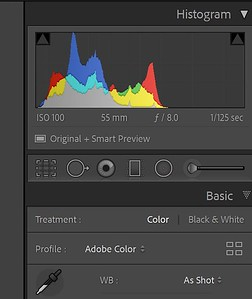 Color analysis of 201203 session