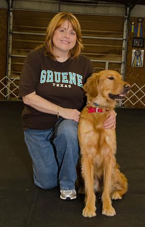 Cheryl Archer and Golden Retriever