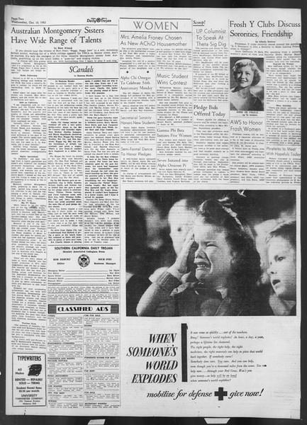 Daily Trojan, Vol. 43, No. 18, October 10, 1951