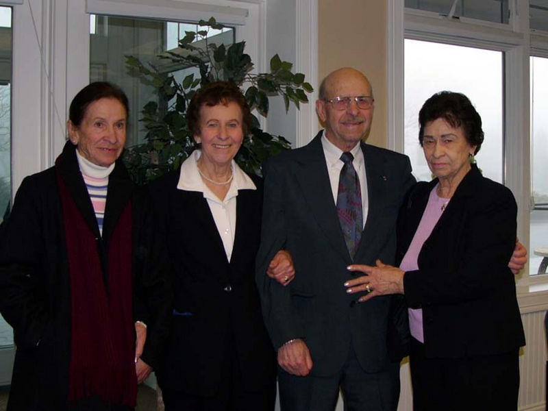 The Michauds - Patricia, Edna, Lucien, and Edmay - My Mom's siblings.    Missing are: Jeannette Morin and Claire Dubay (in Maine).