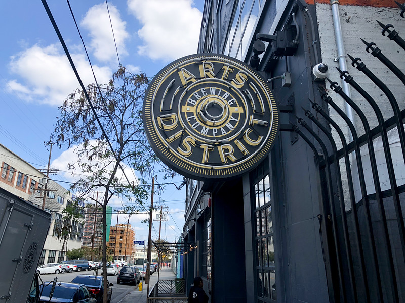 The Arts District Brewing Co. is one of several new breweries that have popped up to serve the influx of young people  who are now visiting the area