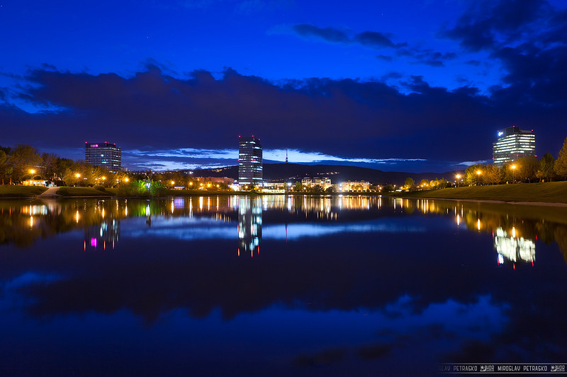 The blue reflection