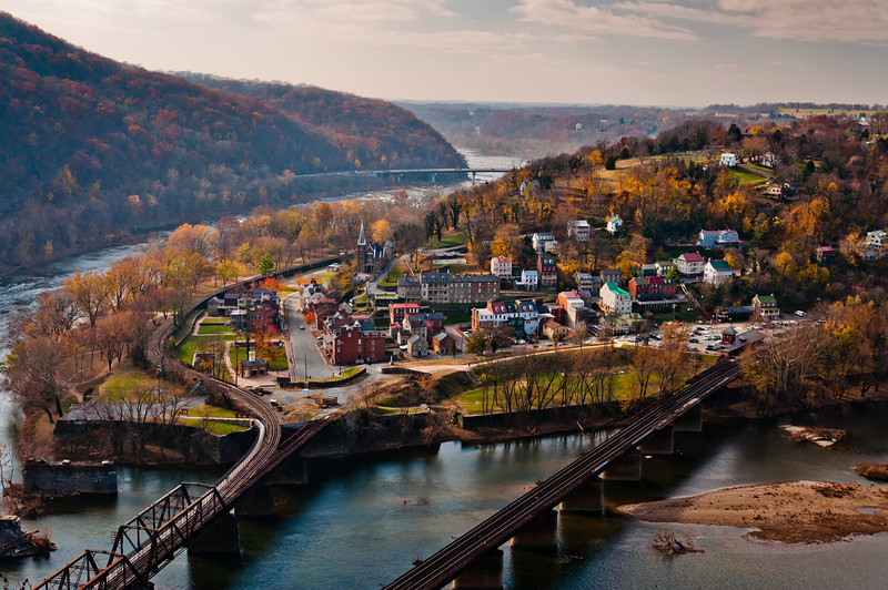View of Harper's Ferry, West Virginia from Maryland Heights