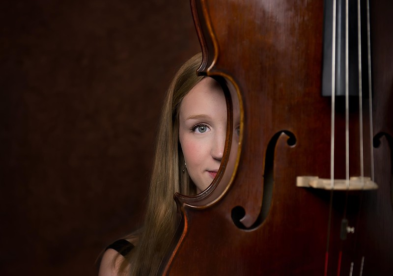 Senior girl  studio session - Marion Iowa - Cello - TruYou photography 1.jpg