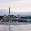The Santa Cruz Beach Boardwalk rides before they open to the public