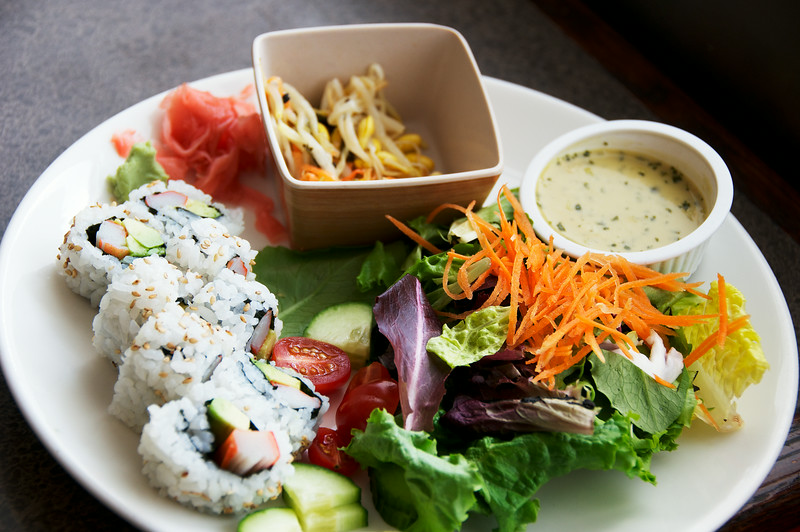 California Roll and Salad